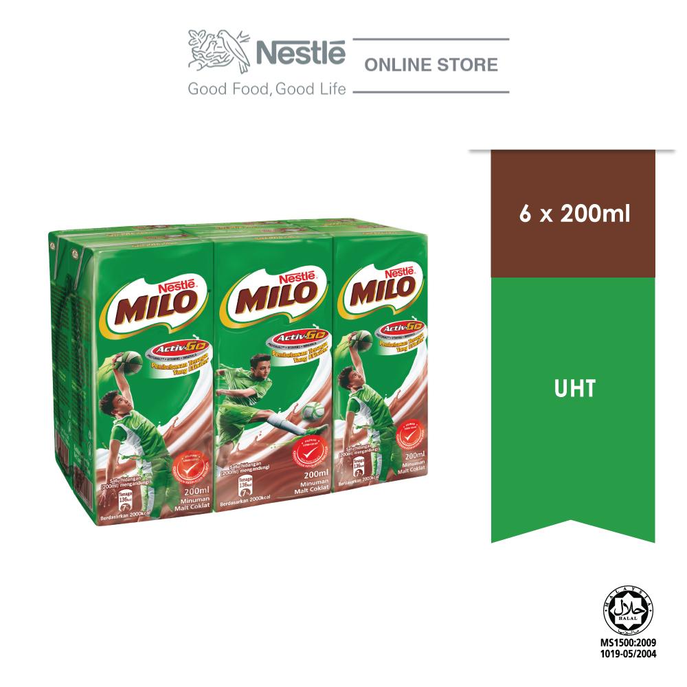 MILO ACTIV-GO UHT 6 Packs 200ml