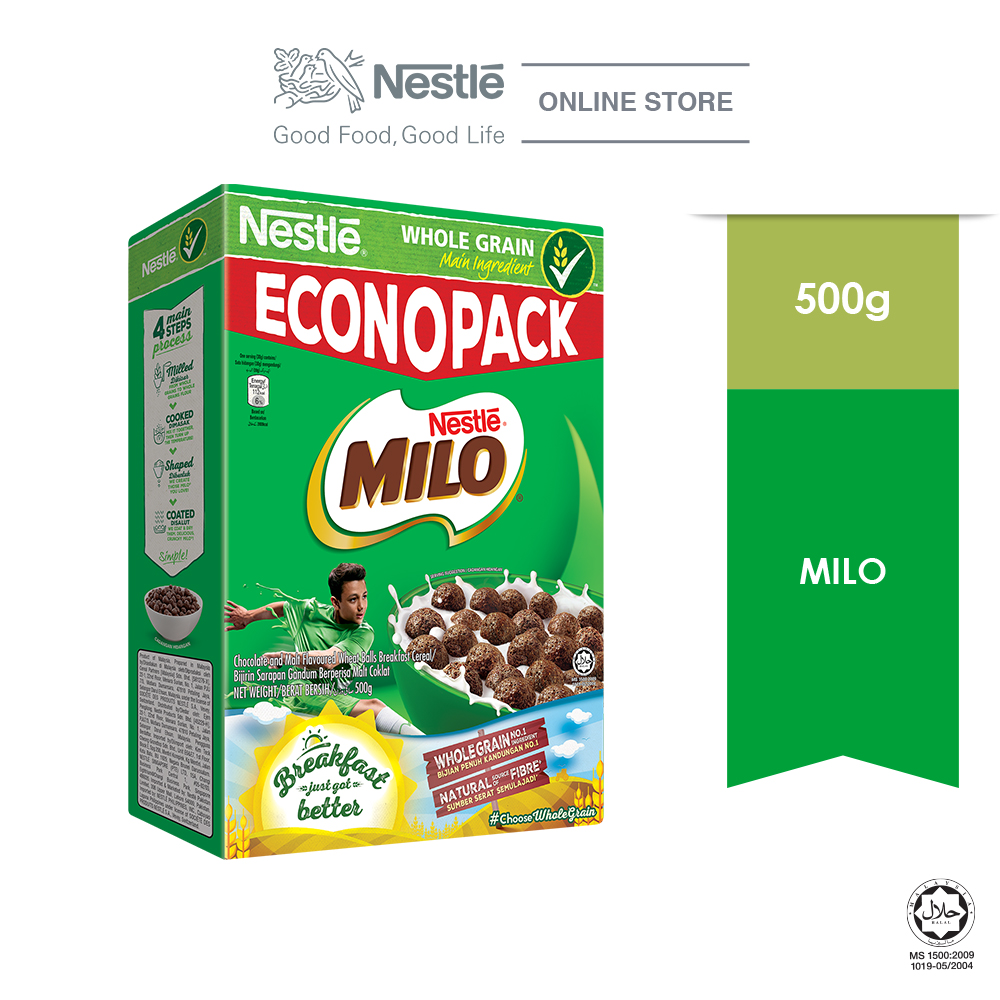 NESTLE  MILO Breakfast Cereal  Econopack 500g