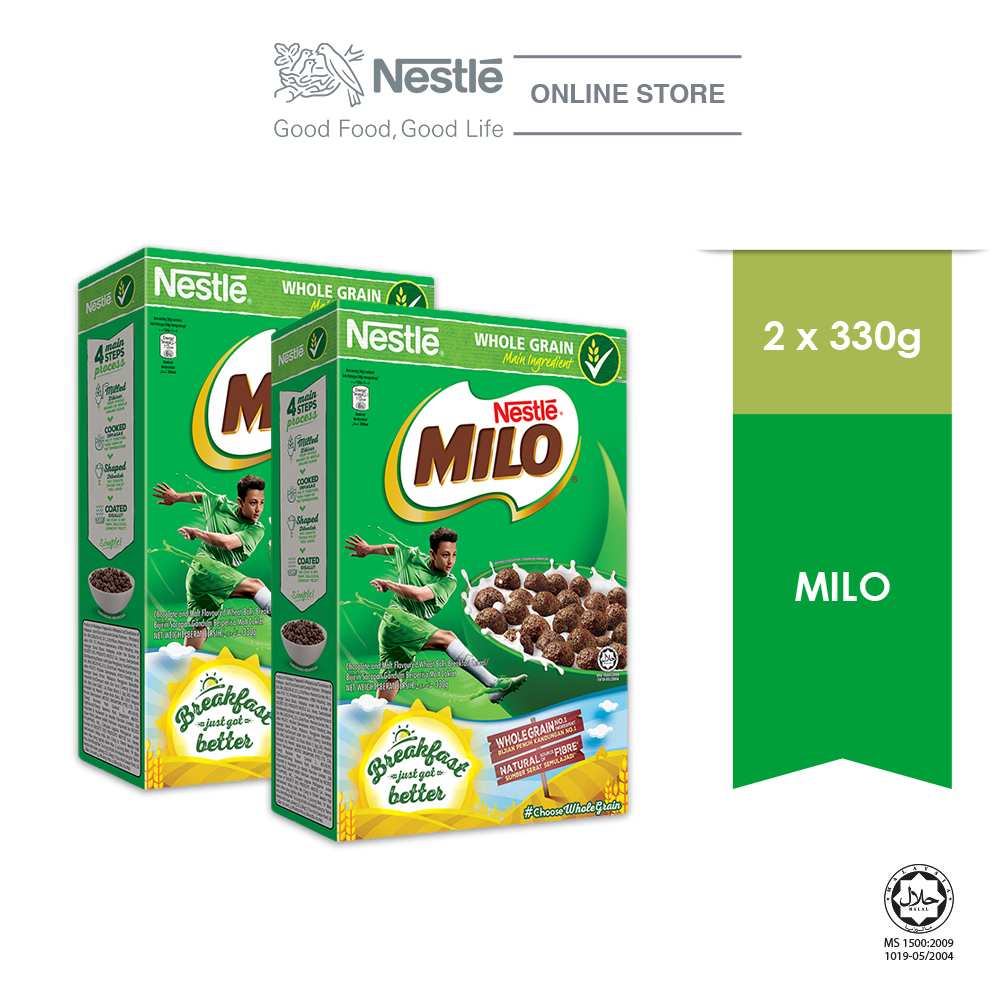 NESTLE MILO Breakfast Cereal  Large 330g x2 sets