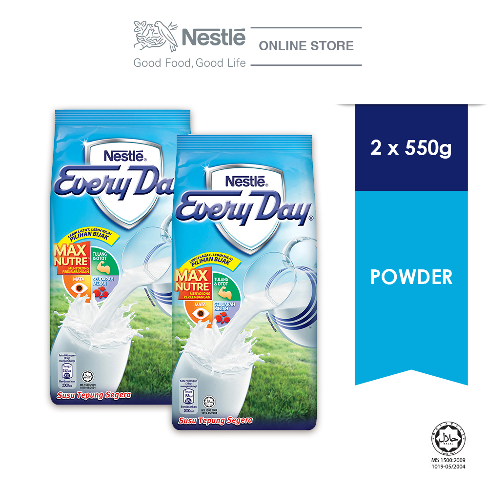 NESTLE EVERYDAY Milk Powder Softpack (550g), Bundle of 2