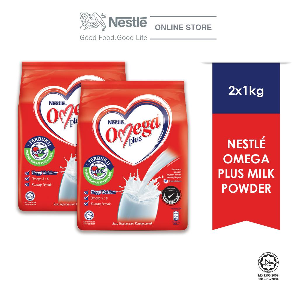 NESTLE OMEGA PLUS Milk Powder Soft Pack 1kg x2 packs