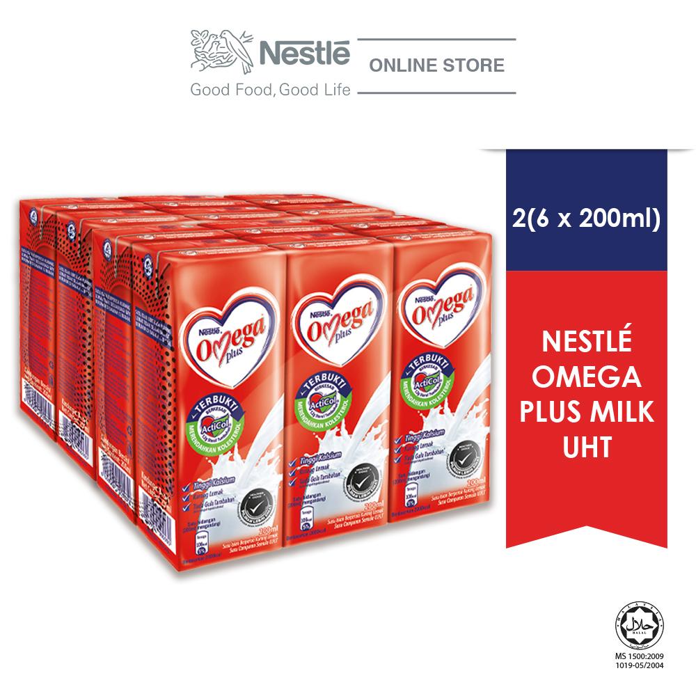 NESTLE OMEGA PLUS 6 Packs, 200ml Each