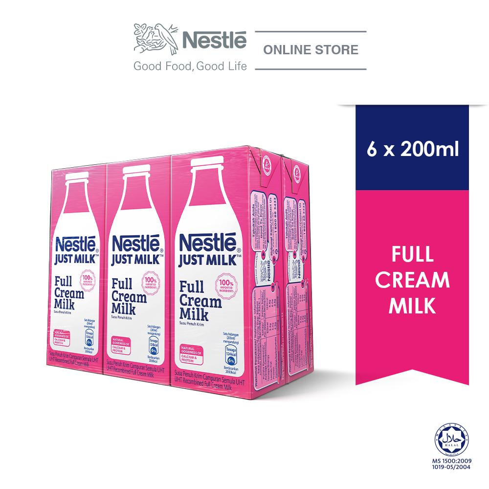 NESTLÉ JUST MILK™ Full Cream Milk 6x200ml cluster