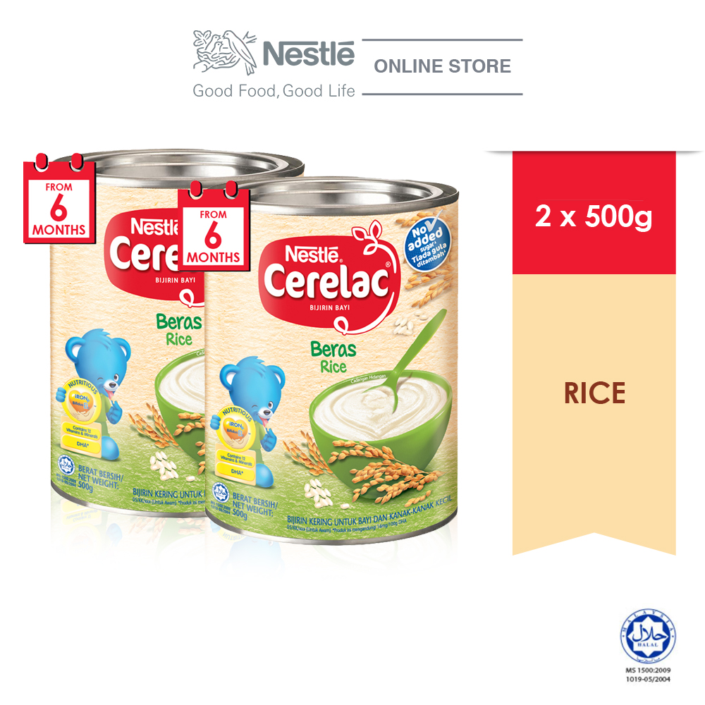 NESTLE CERELAC Rice Infant Cereal Tin 500g x2 tins