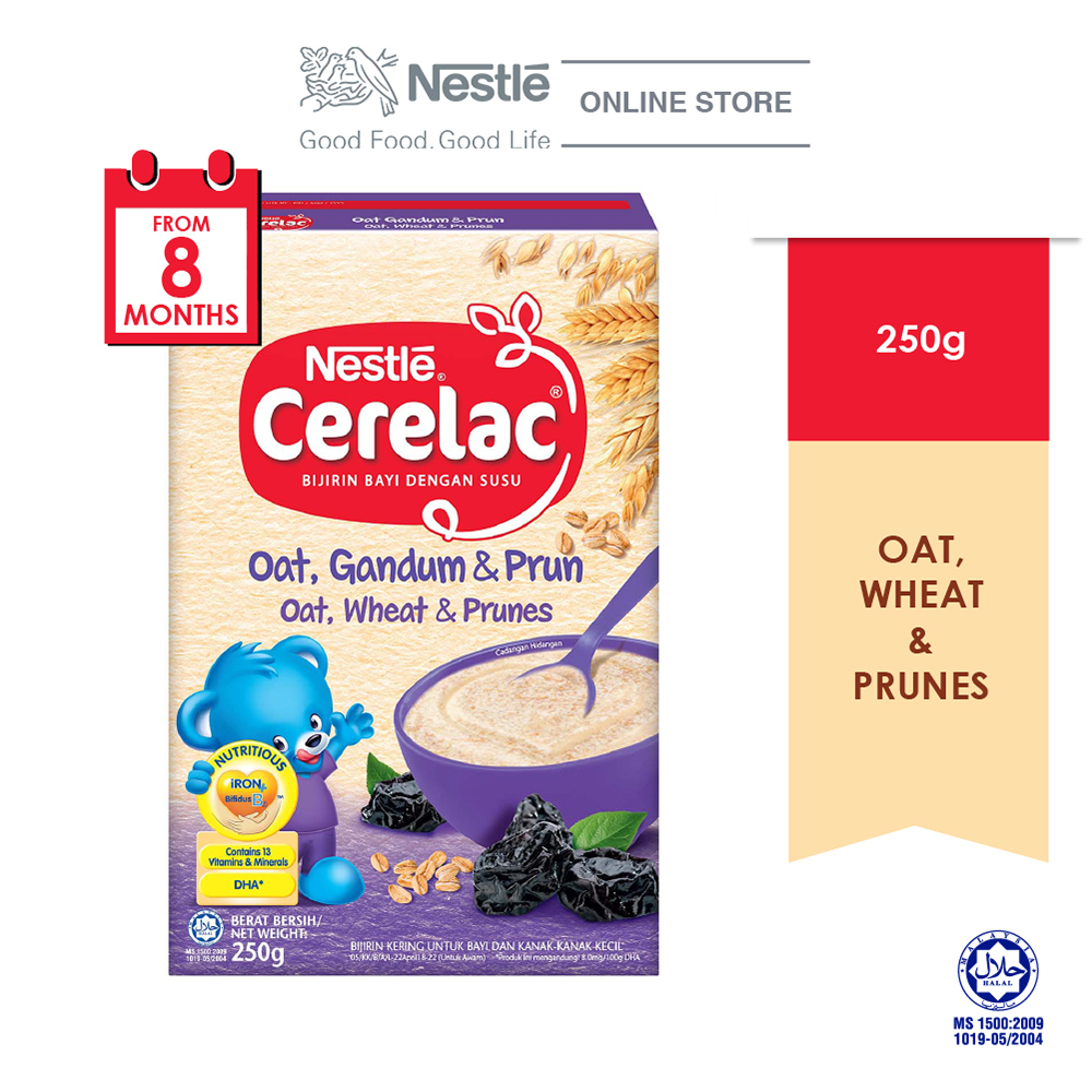 NESTLE CERELAC Oats, Wheat & Prunes Infant Cereal Box Pack 250g