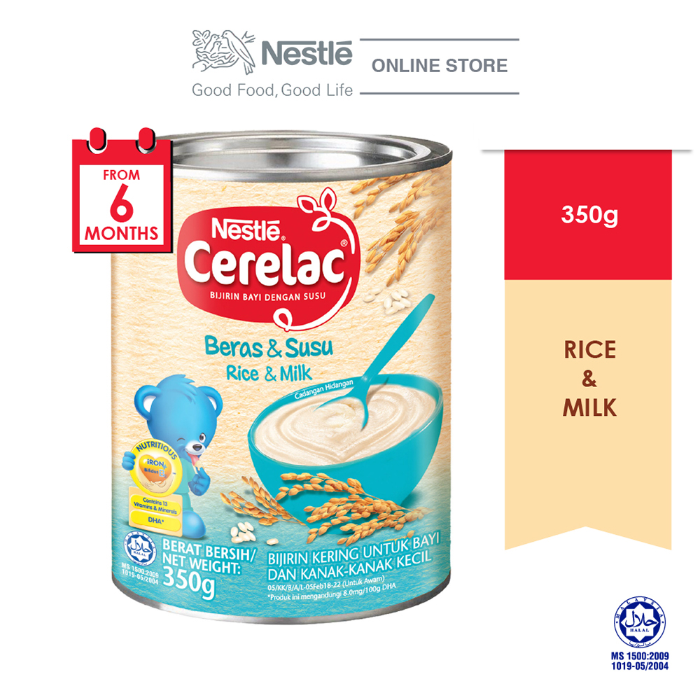 NESTLE CERELAC Rice Milk Infant Cereal Tin 350g