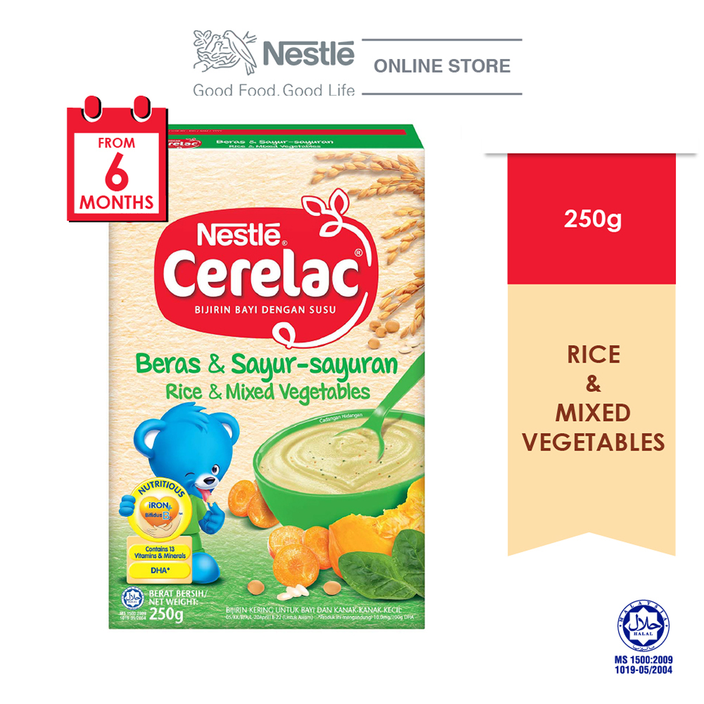 NESTLE CERELAC Rice & Mixed Vegetables Infant Cereal Box Pack 250g