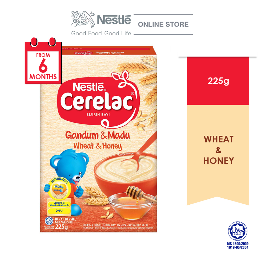 NESTLE CERELAC Wheat & Honey Infant Cereal Box Pack 225g