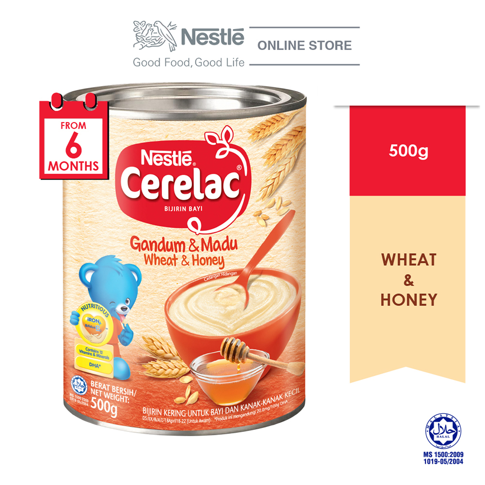 NESTLE CERELAC Wheat Honey Infant Cereal Tin 500g