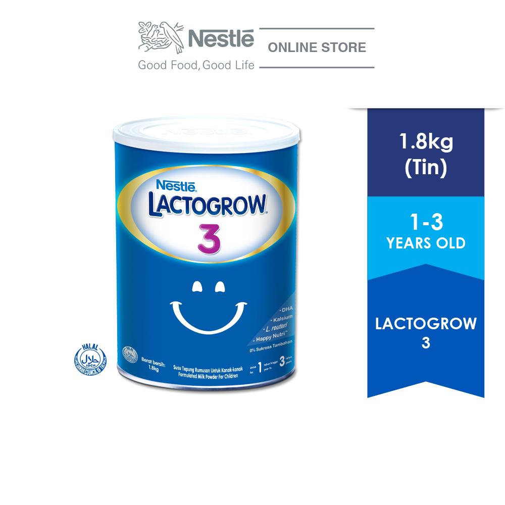 LACTOGROW 3 TIN, 1 box of 1.8kg ExpDate:Jan22