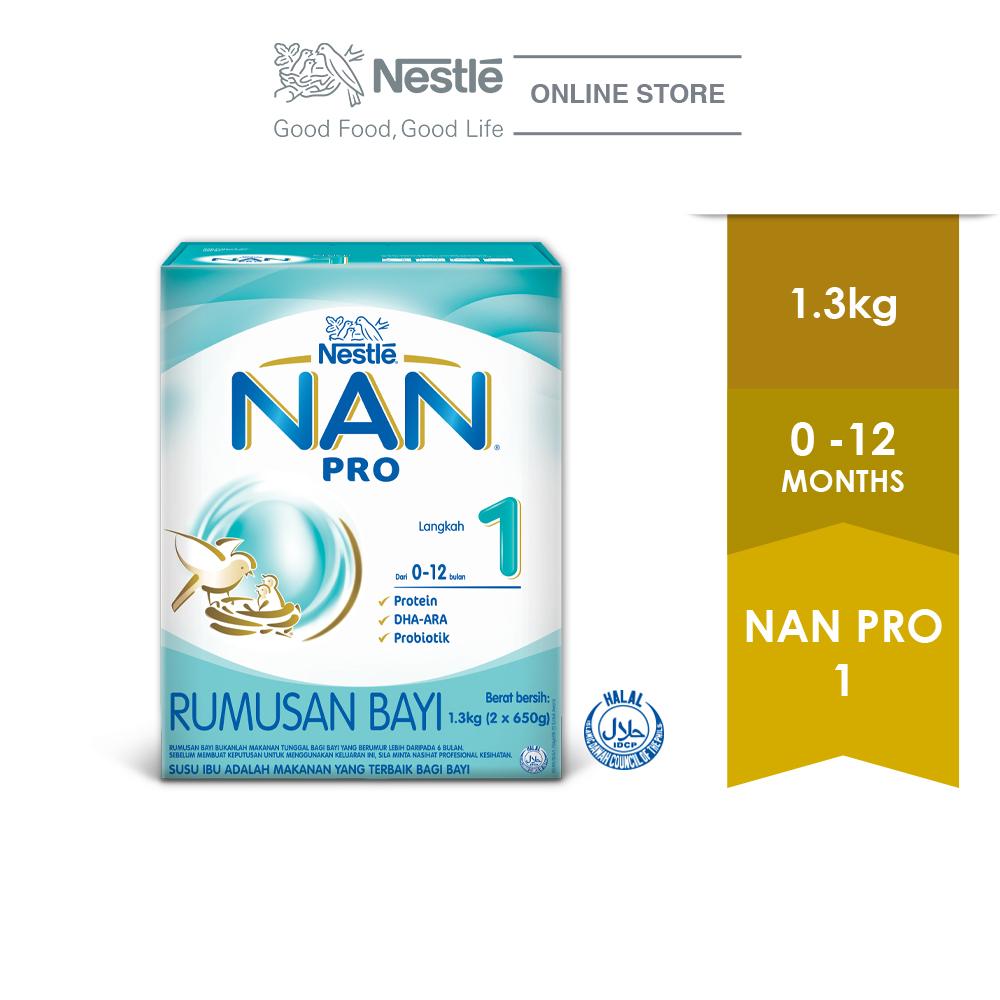 NAN PRO 1 Follow Up Formula Box Pack 1.3kg, EXP DATE : FEB '20