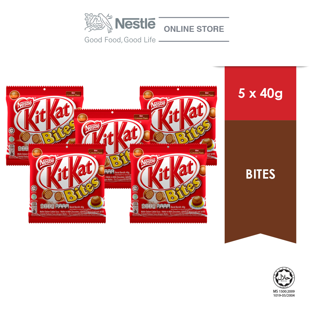 Nestle KITKAT Bites Pack 40g, Bundle of 5