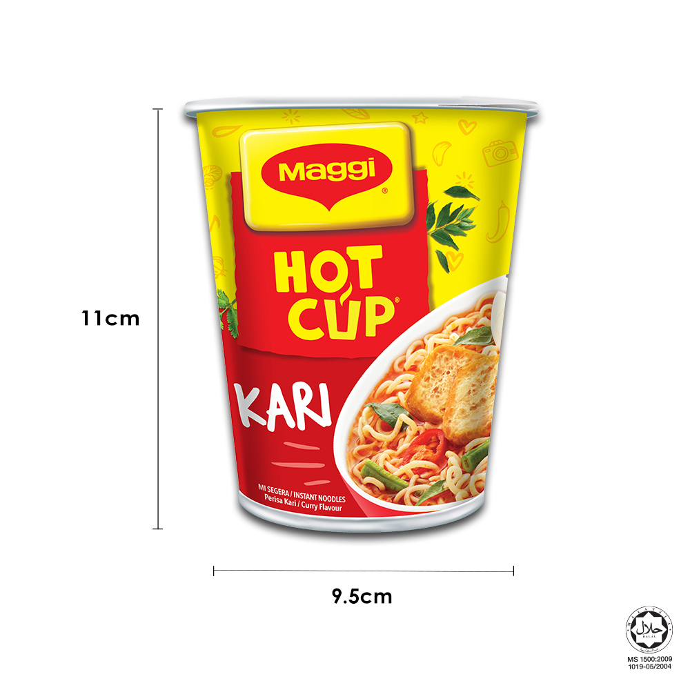 MAGGI Hot Cup Curry 54cups x59g Carton ExpDate:DEC20