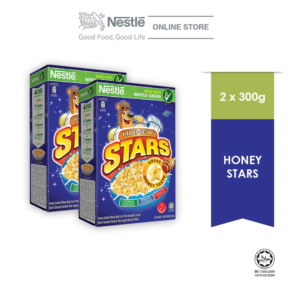 NESTLE  HONEY STARS Cereal Large Box (300g x 2 boxes)