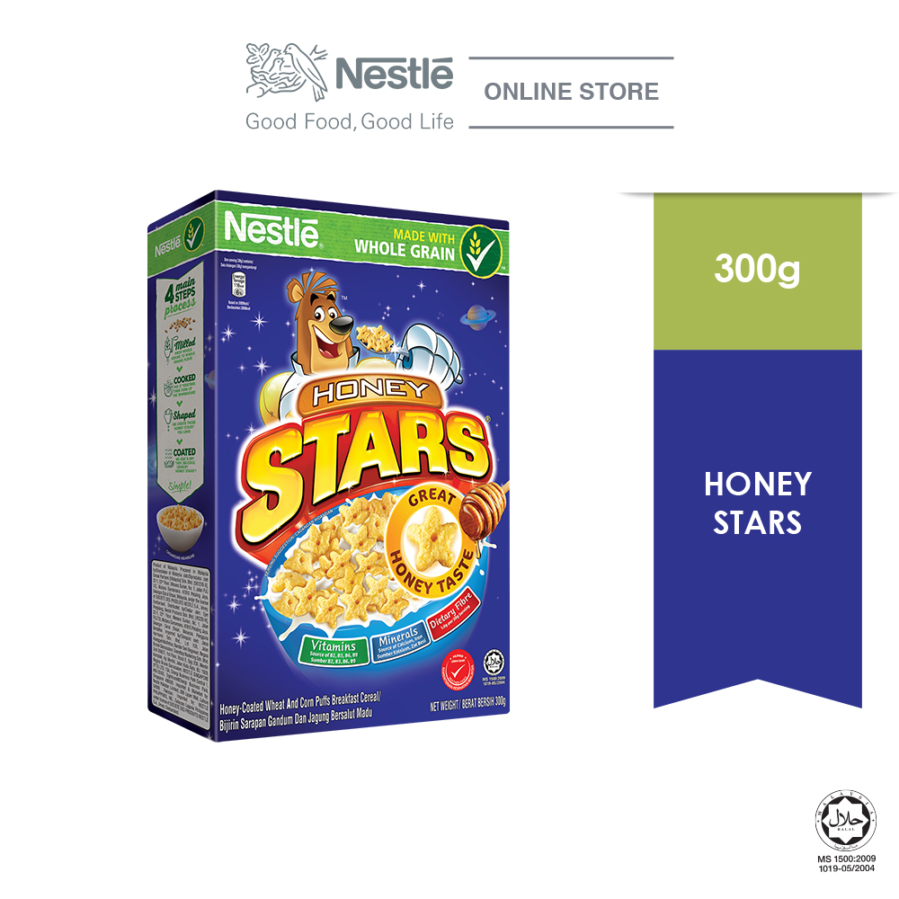 NESTLE HONEY STARS Cereal Large Box Pack 300g
