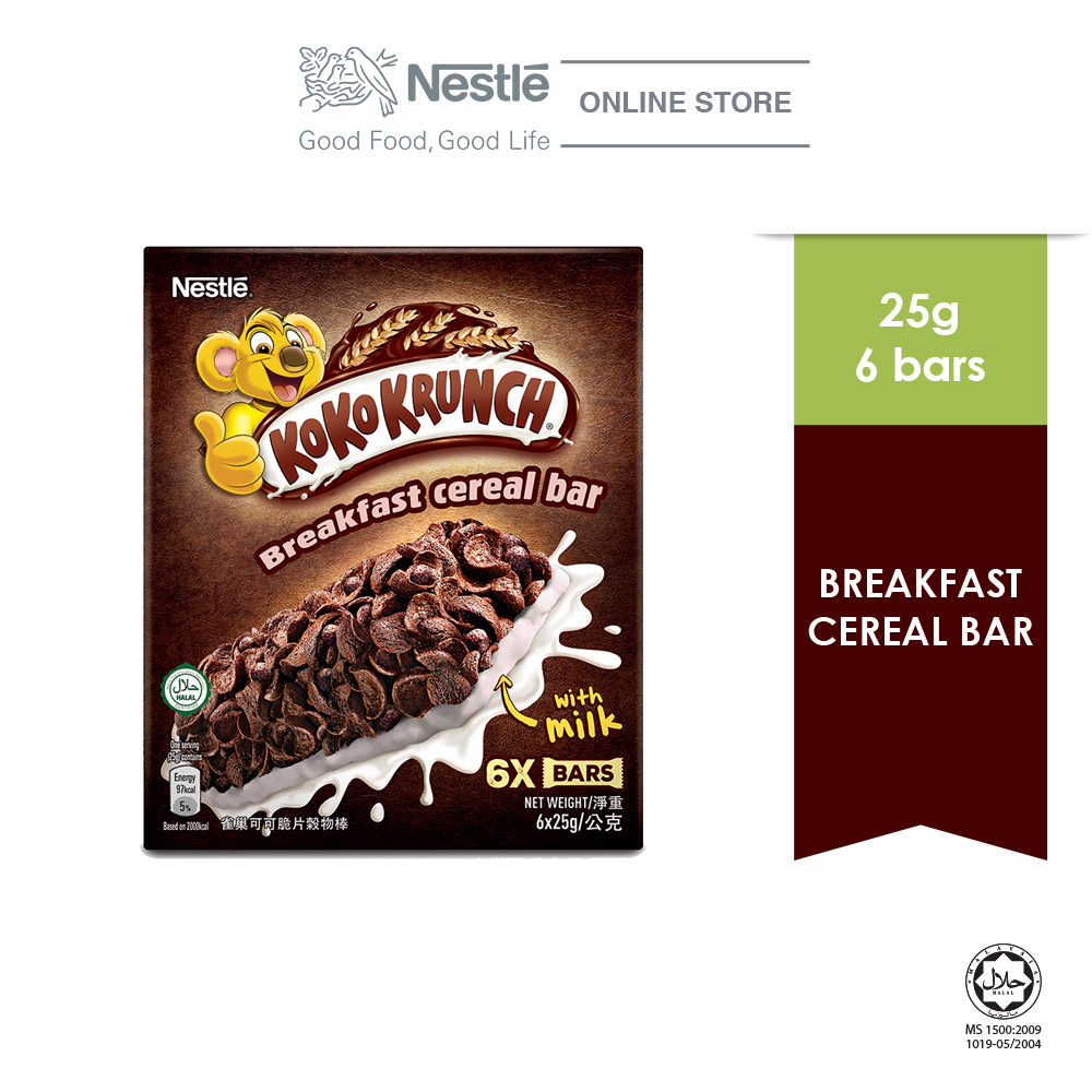 NESTLE KOKO KRUNCH Cereal Bar 6 sticks, 25g