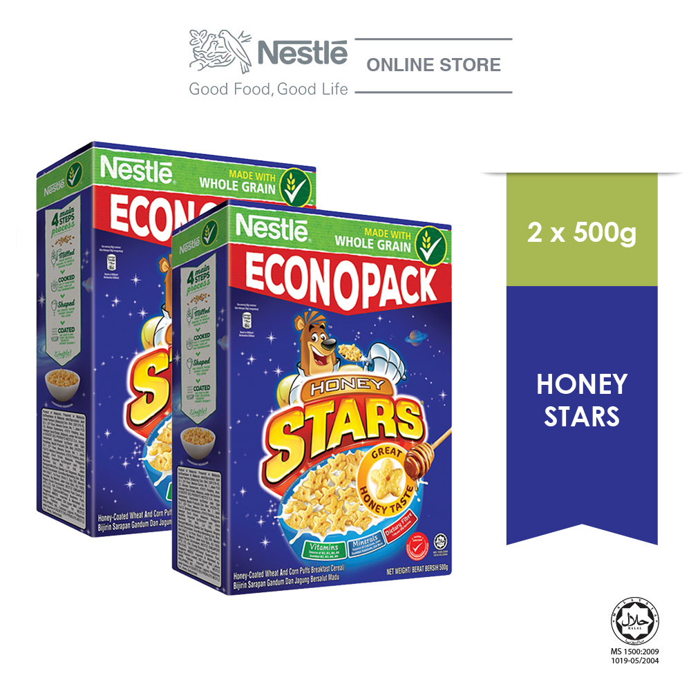 NESTLE  HONEY STARS Cereal Econopack 500g x2 packs