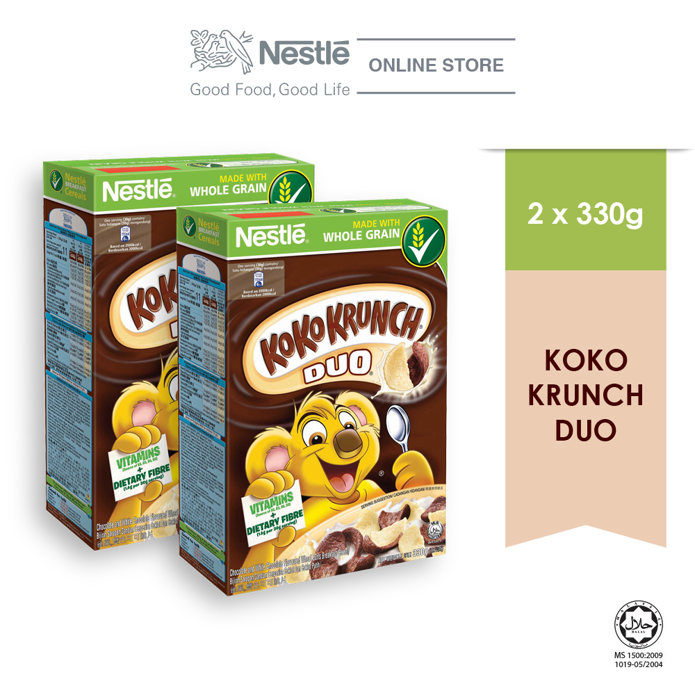 NESTLE KOKO KRUNCH DUO Cereal Large (330g x 2 boxes)