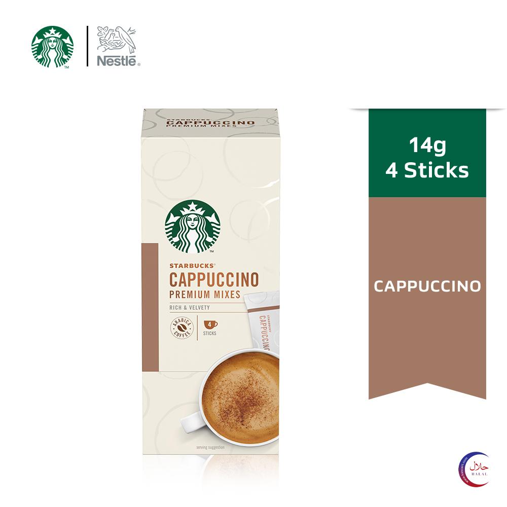 STARBUCKS Cappuccino Premium Instant (4 x 14g) Exp Date: Jun21