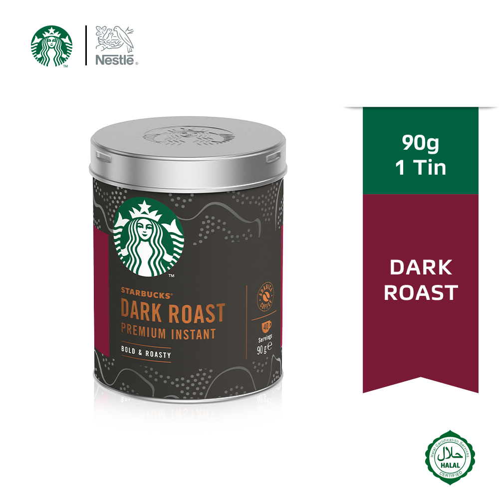 STARBUCKS Dark Roast Tin 90g