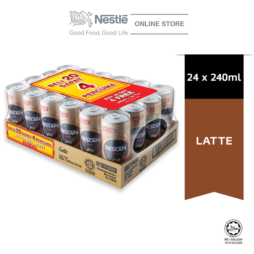NESCAFE LATTE CANS 24X240MLBuy 20 Free 4 ExpDate:SEP20