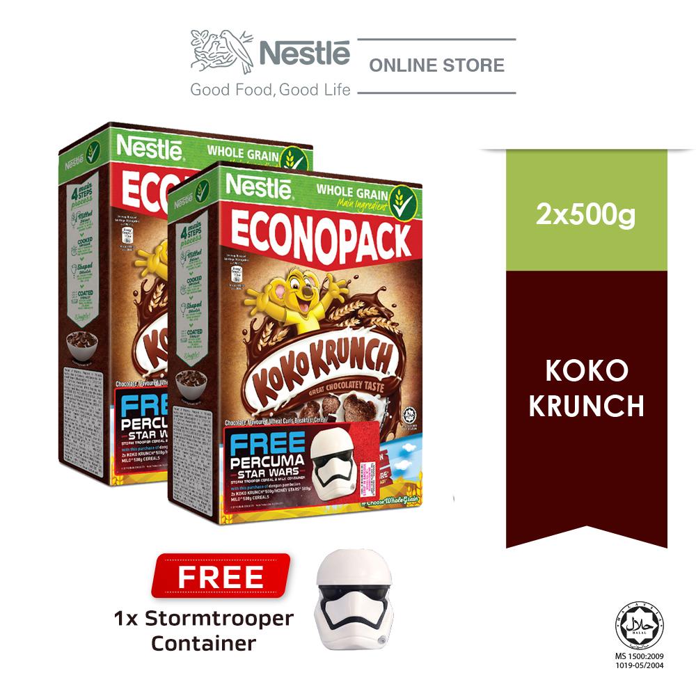 Nestle KOKO Krunch Econopack 500g Buy 2 Free 1 Star Wars Storm Trooper Container