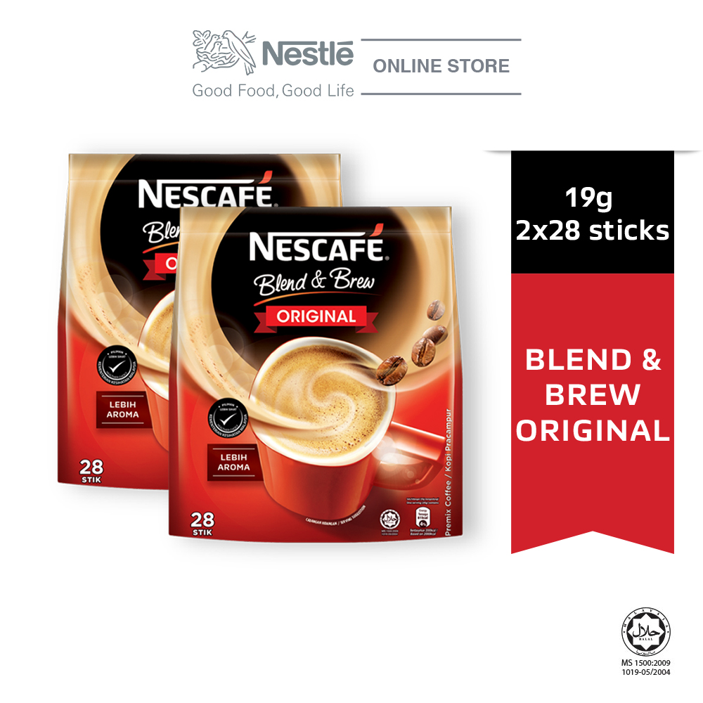 NESCAFE Blend and Brew Original (28 Sticks, 19g x 2 packs)