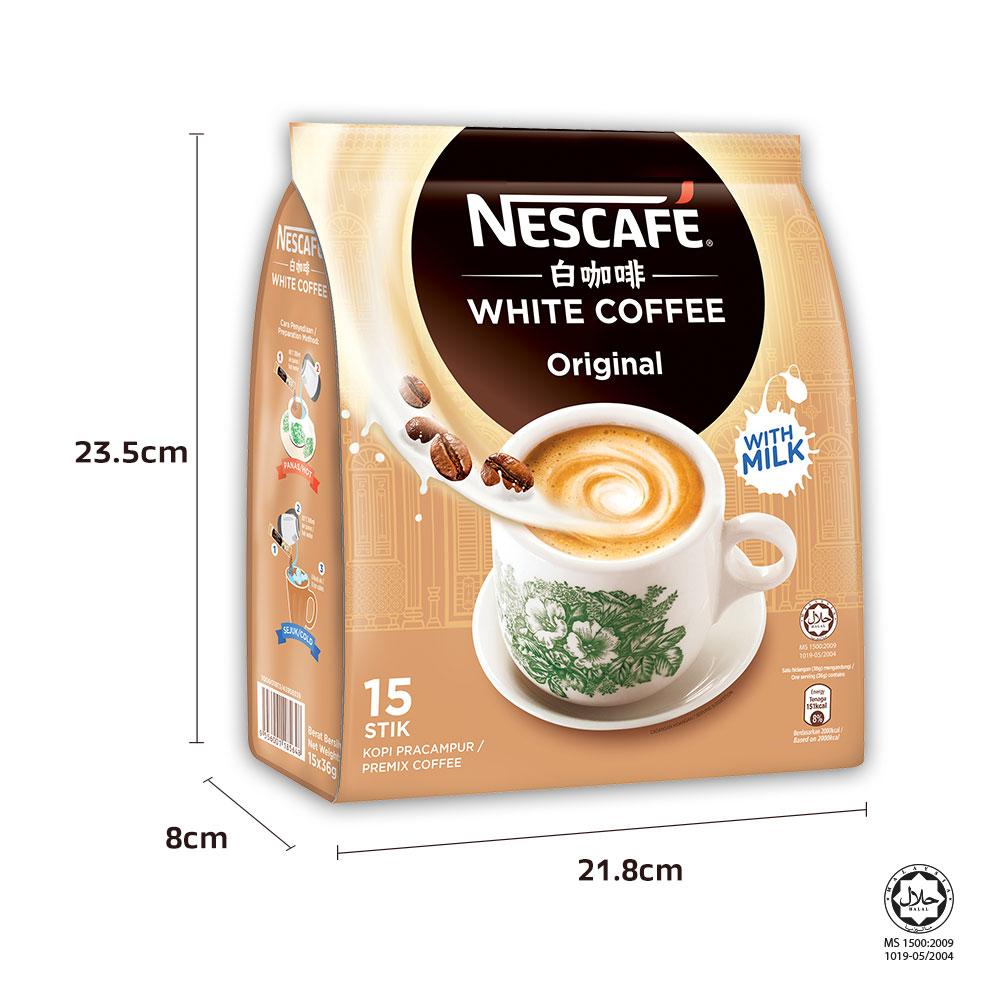 NESCAFE White Coffee Original 15 Sticks 36g x2 packs