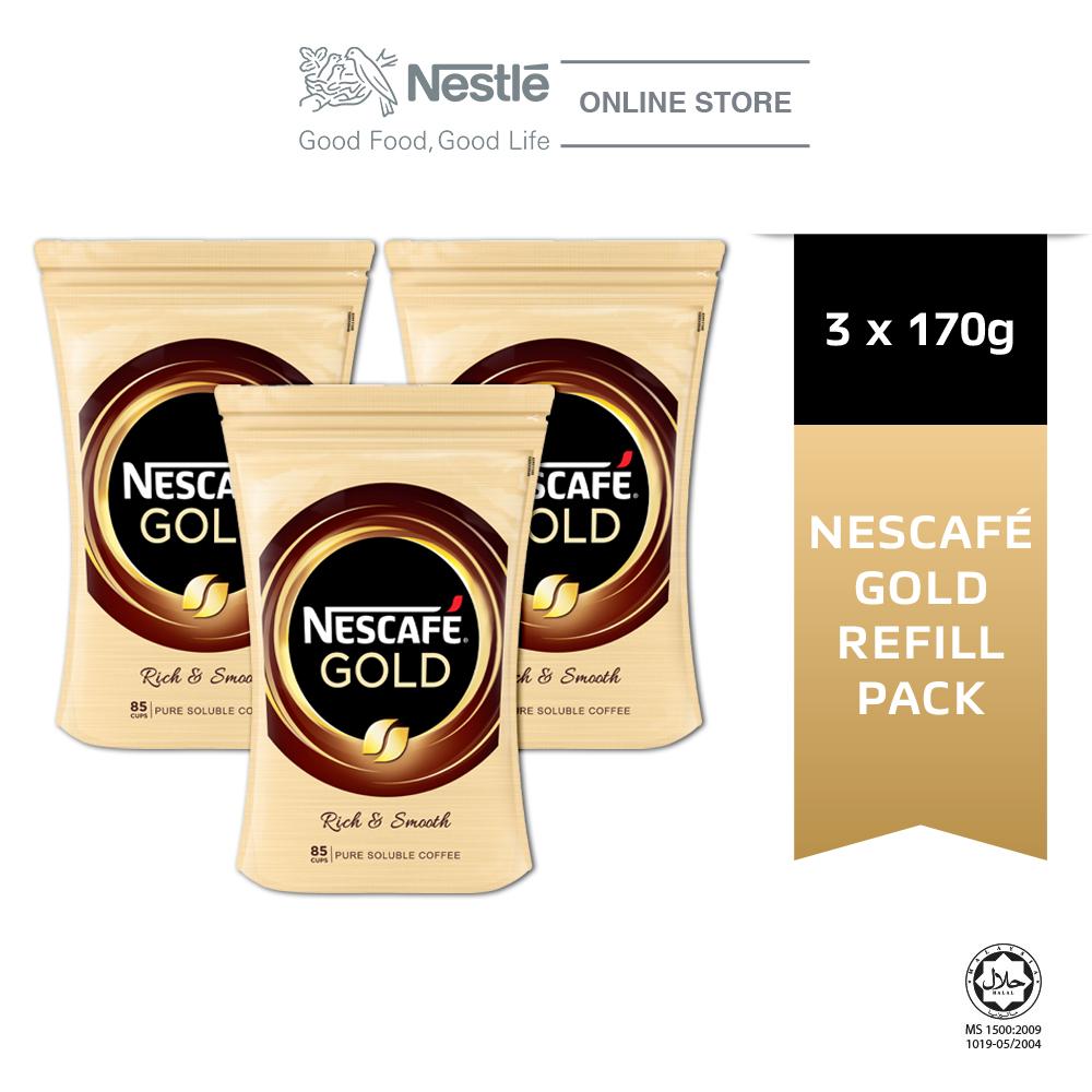 NESCAFE GOLD Refill 170g, Bundle of 3