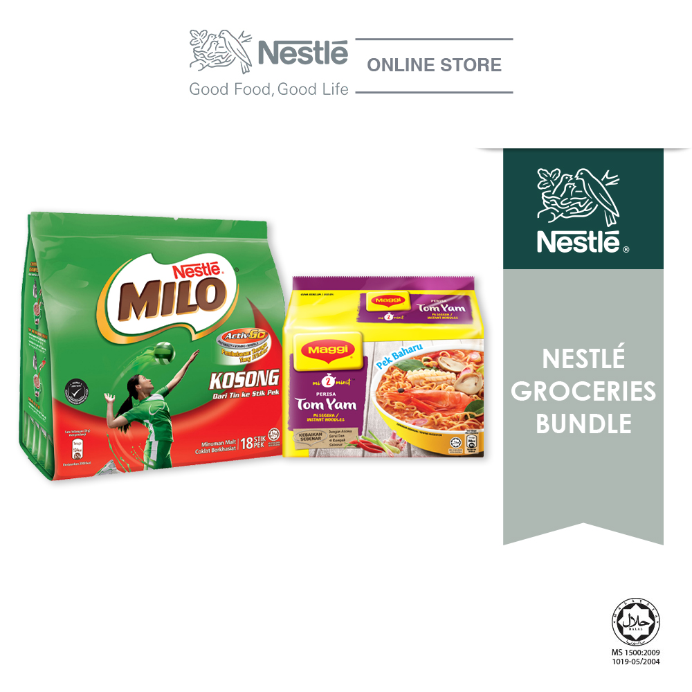 Nestle Groceries Bundle - Option 2 (MILO & MAGGI 2-MINN)