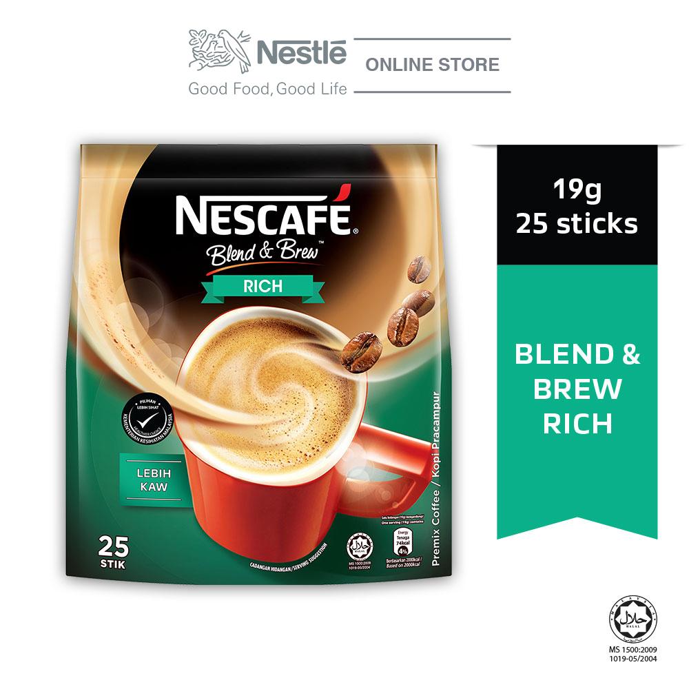 NESCAFÉ Blend and Brew Rich 25 Sticks 19g Each