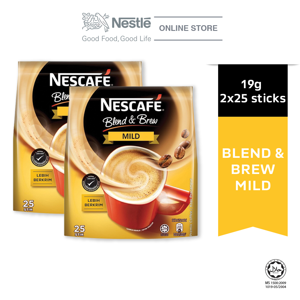 NESCAFE Blend and Brew Mild 25 Sticks 20g x2 packs