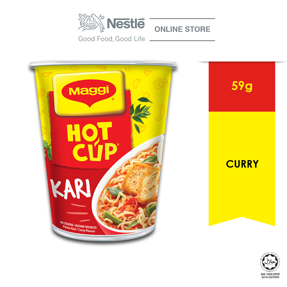 MAGGI Hot Cup Curry 1 Cup 59g ExpDate:DEC'20