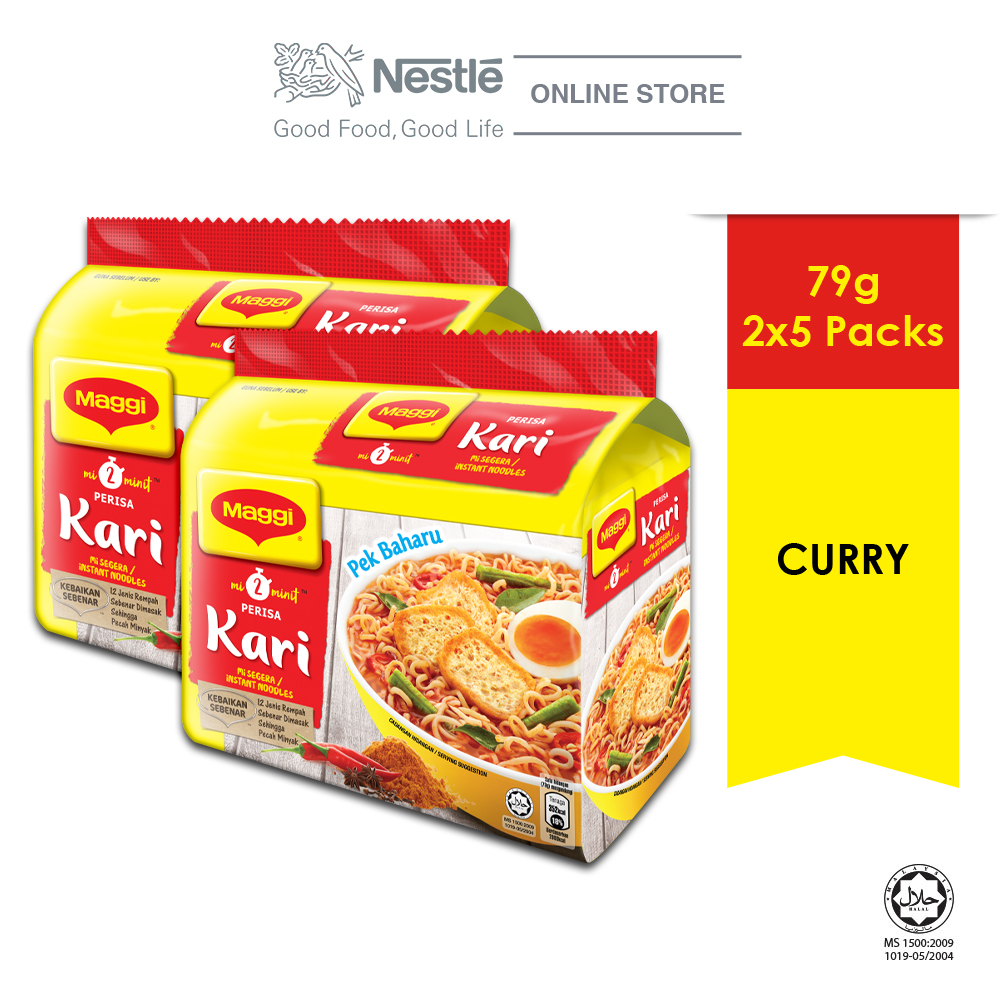 MAGGI 2-MINN Curry 5 Packs 79g x 2 (Multipacks)