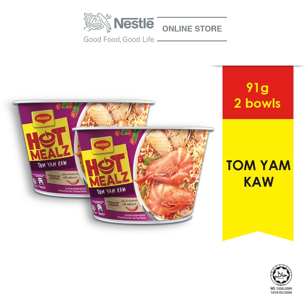 MAGGI Hot Mealz Tom Yam Kaw Bowl 91g x2 bowls