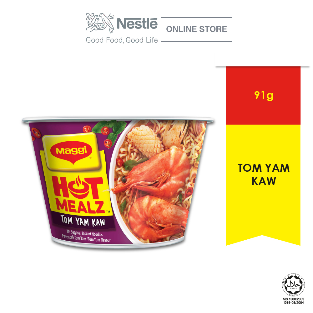 MAGGI Hot Mealz Tom Yam Kaw 1 Bowl, 91g Each EXP DATE: NOV 20