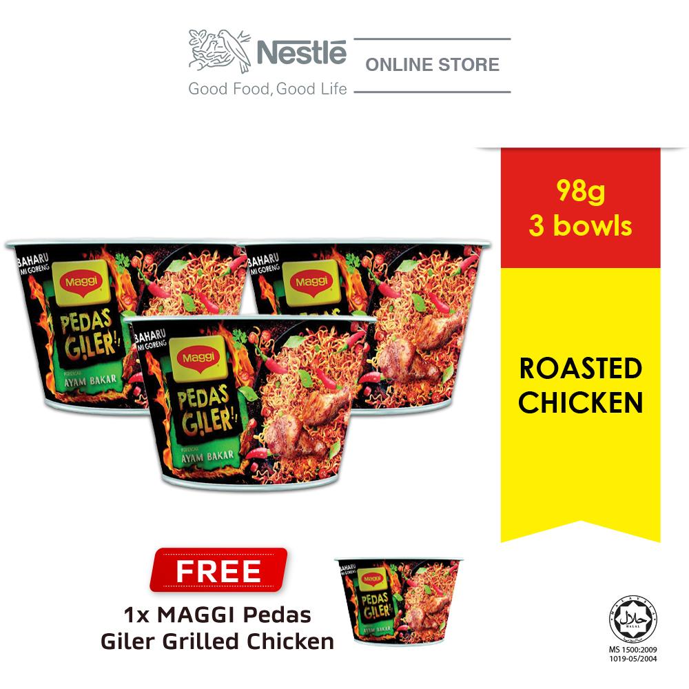 MAGGI Pedas Giler Grilled Chicken 98g Buy 3 Free MAGGI Pedas Giler Grilled Chicken