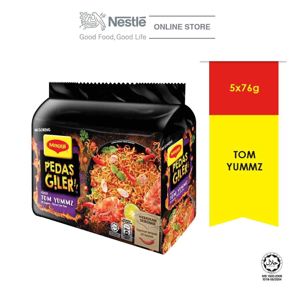 MAGGI Pedas Giler Perencah Tom Yummz 5 Packs, 76g Each