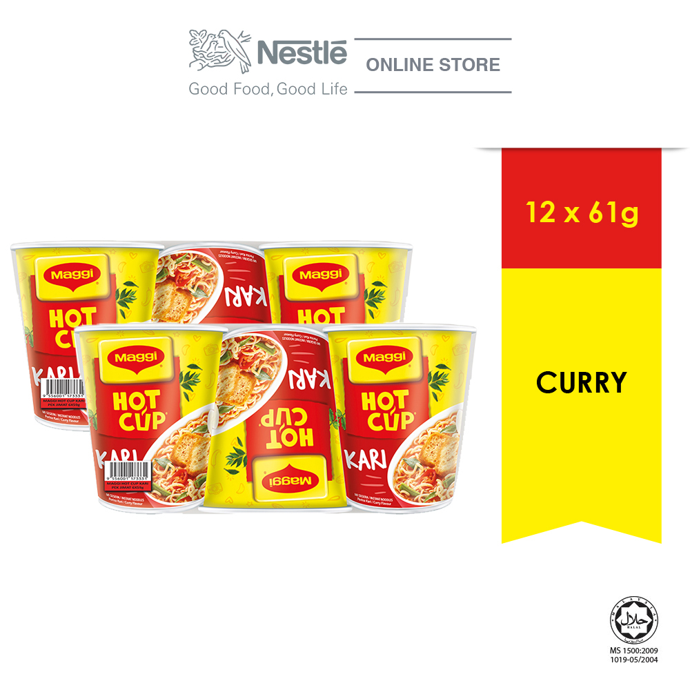 MAGGI Hot Cup Curry (6 cups x 2) ExpDate:Jun21