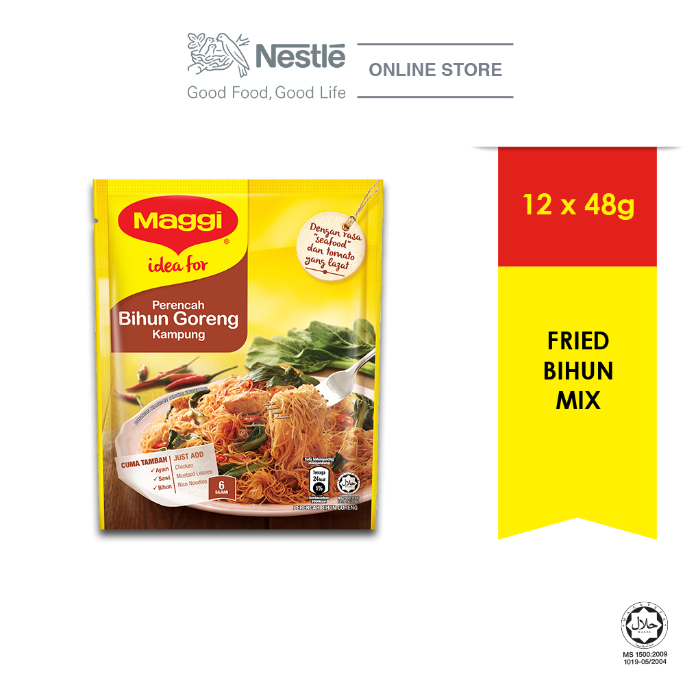 MAGGI Hari-Hari Favourites Bihun Goreng Kampung Seasoning (1 Pack of 48g)
