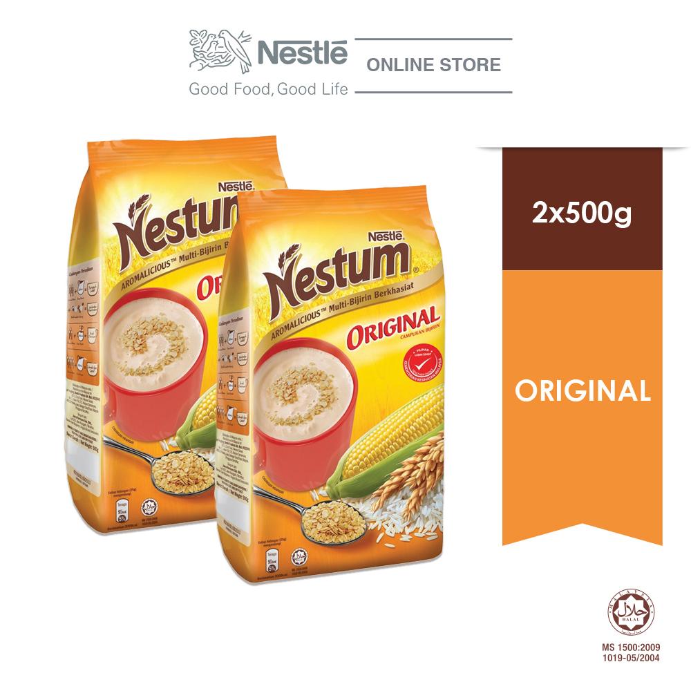 NESTLE NESTUM All Family Cereal Original Softpack (500g x 2 packs)