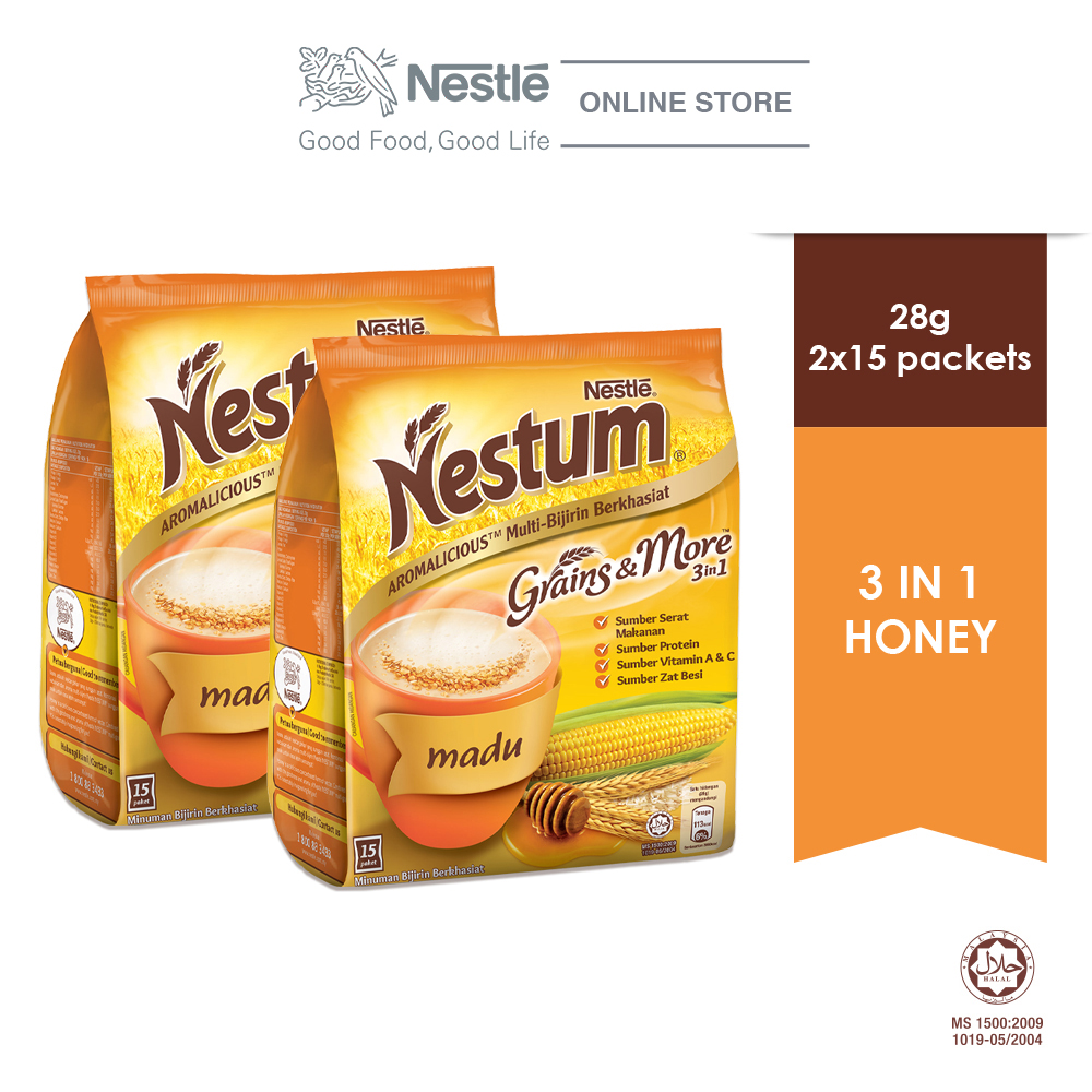 NESTLE NESTUM Grains & More 3in1 Honey 15 Packets 28g x2 packs