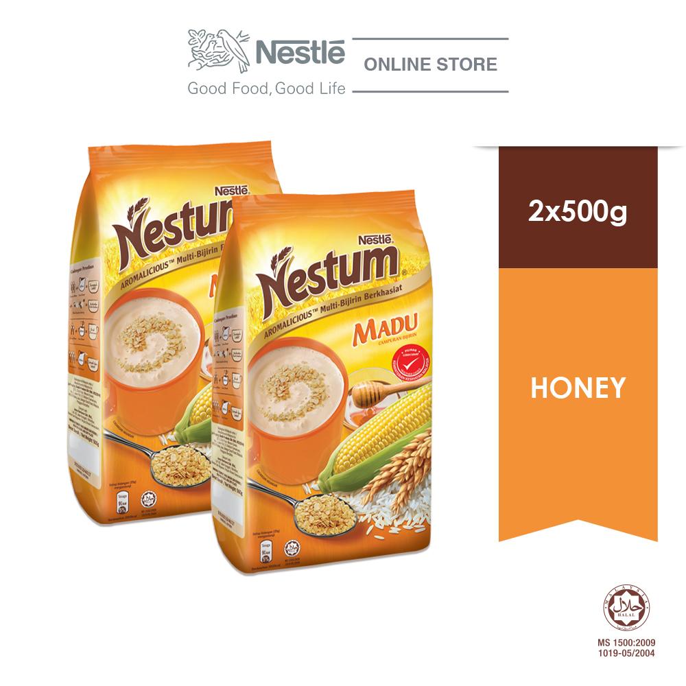 NESTLE NESTUM All Family Cereal Honey Softpack (500g x 2 packs)
