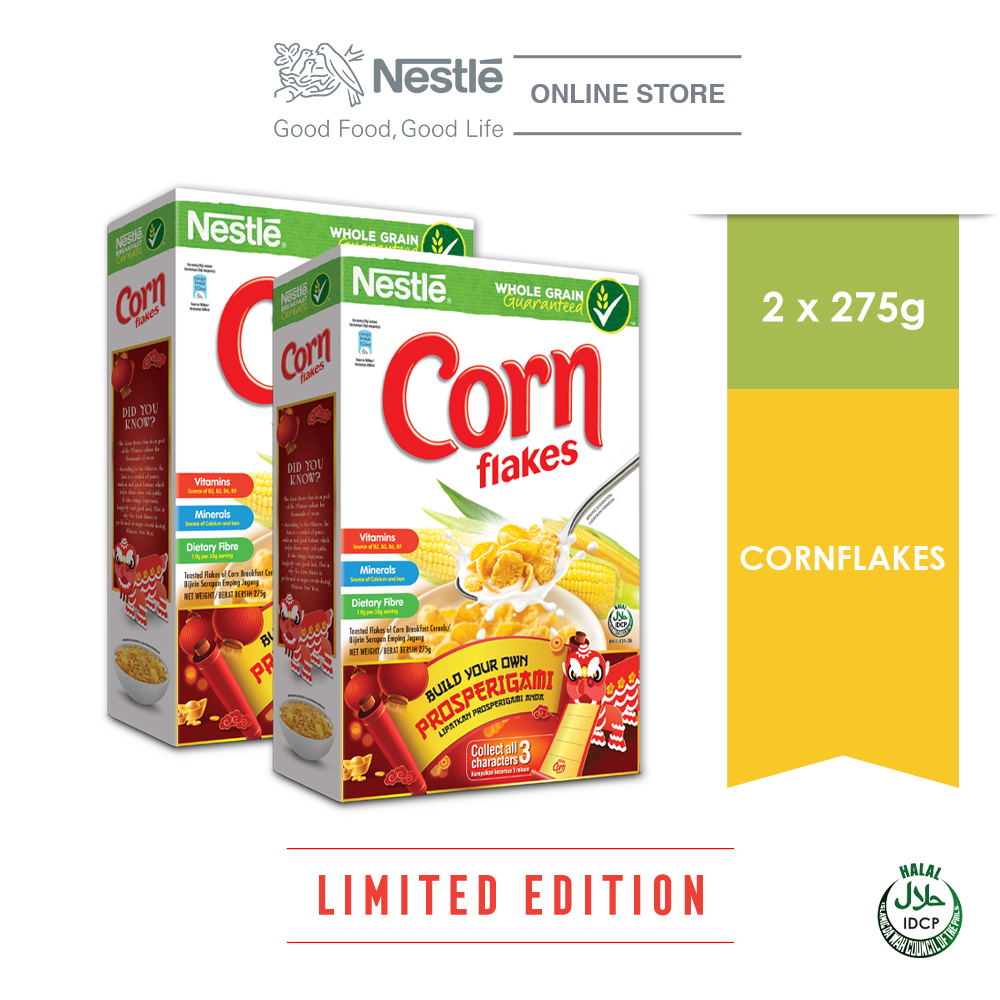 NESTLE CORN FLAKES Cereal 275g Prosperigami Bundle of 2 ExpDate:OCT'20