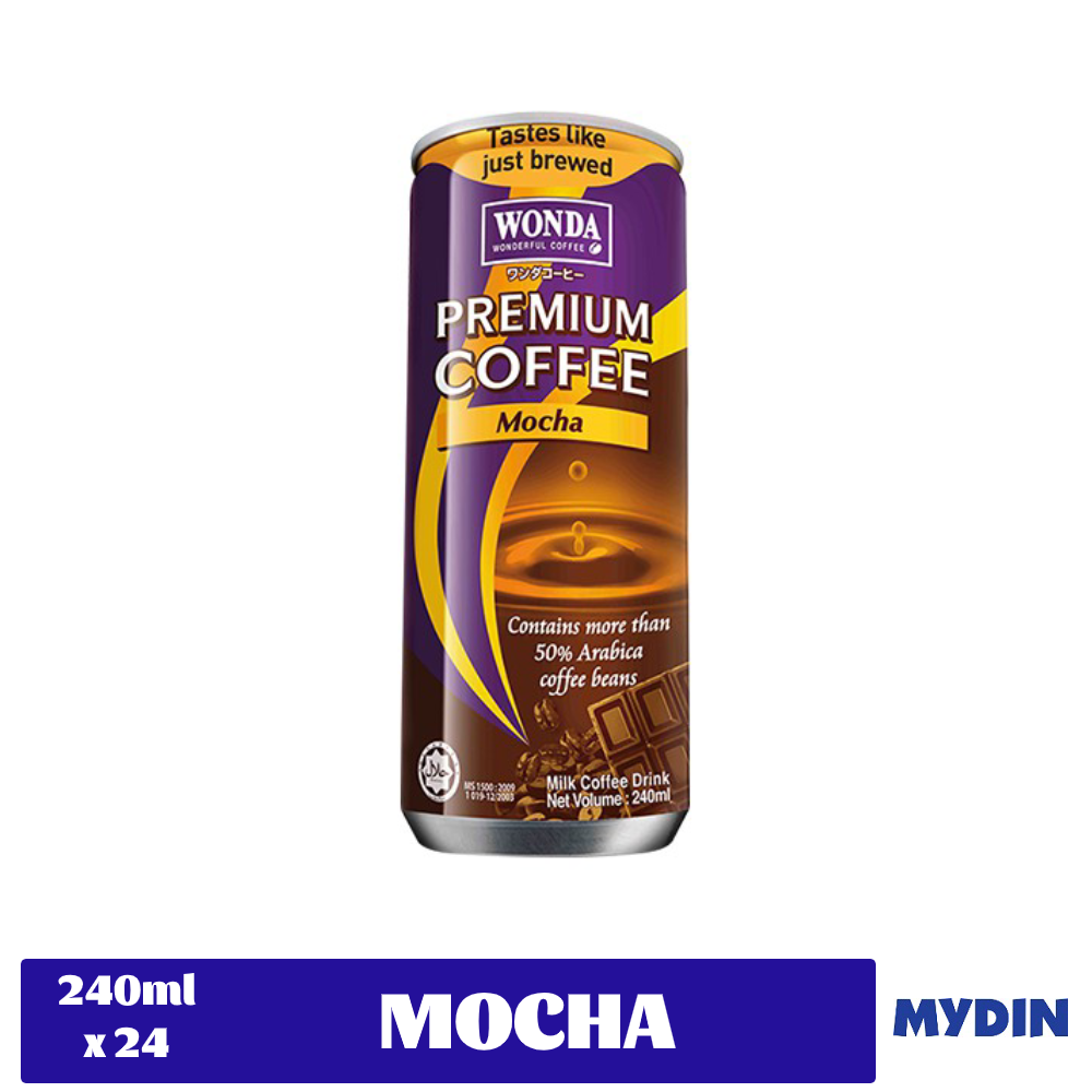 Wonda Premium Coffee (240ml x 24) - Mocha