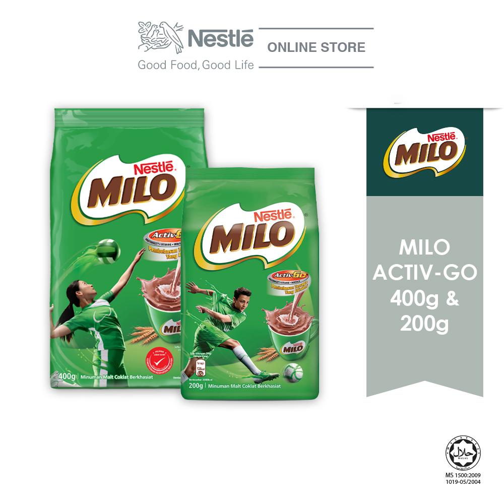 Nestle Milo Bundle (MIlo Active Go 200g x 1 Unit + 400g x 1Unit)