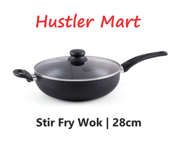 La Gourmet Zen Suki Stir Fry Wok With Lid 28cm (4L)