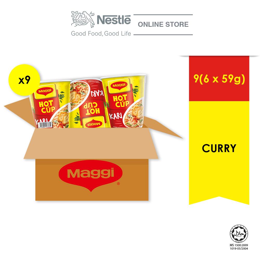 MAGGI Hot Cup Curry Multipack 6x9, 59g each ExpDate:DEC20