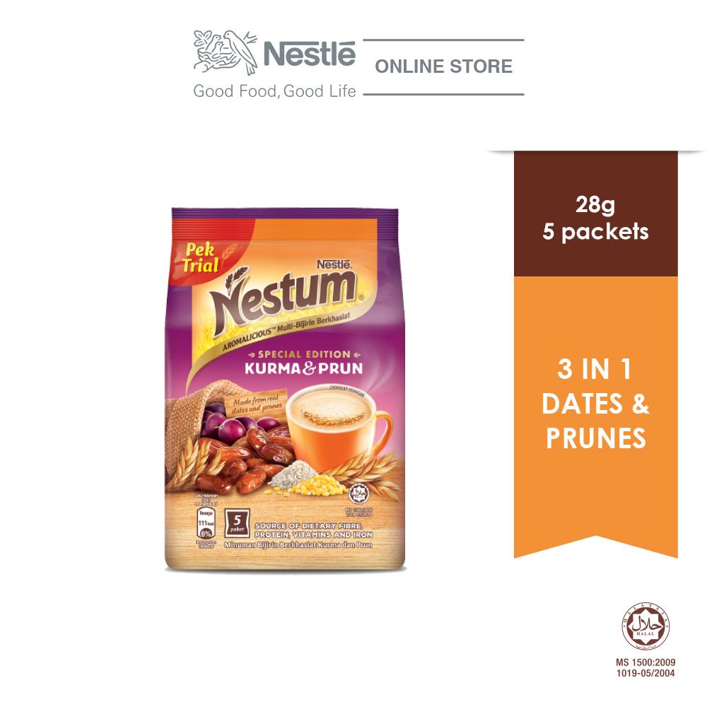 NESTLE NESTUM Grains & More 3in1 Dates & Prunes 5 Packets 28g