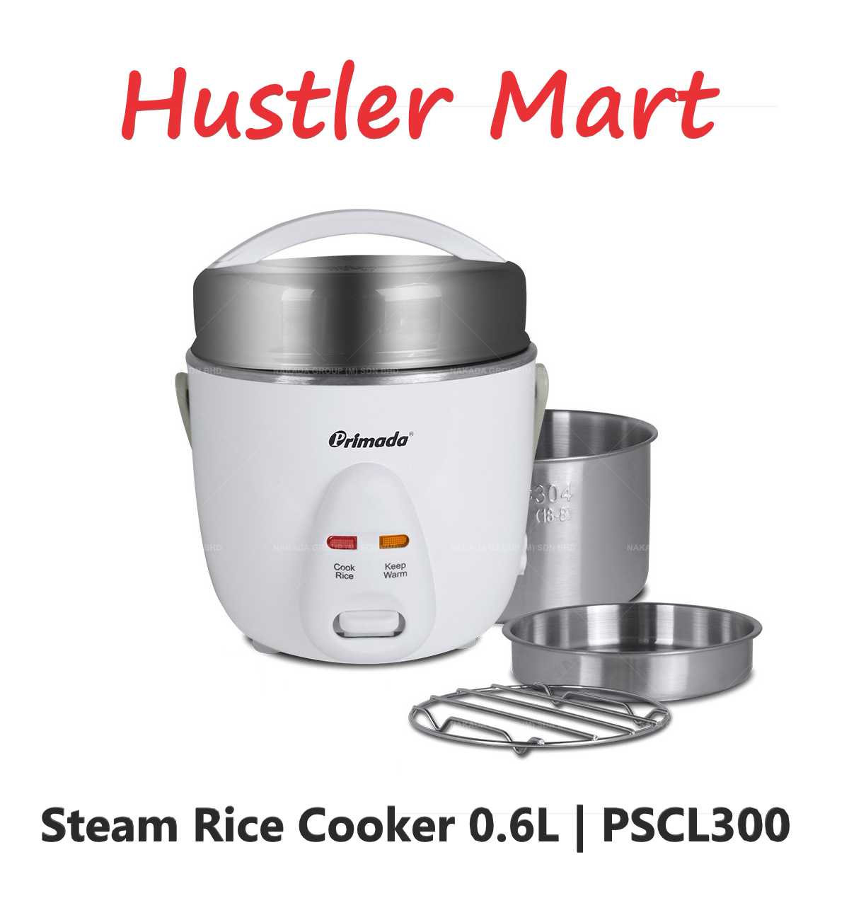 Primada Steam Rice Cooker PSCL300